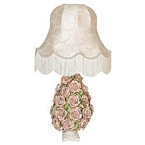Ceramiche Sonda Ceramic Floral Table Lamp, Pink/white - L88r