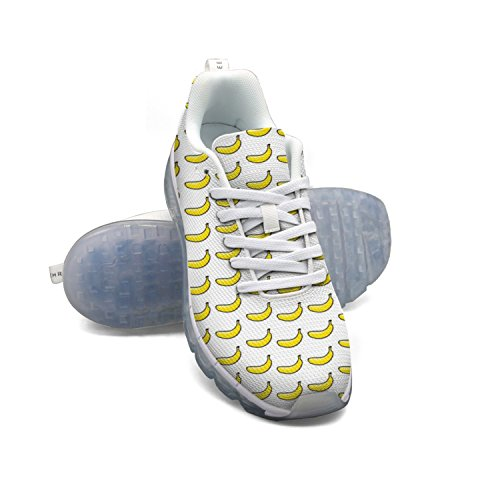 Scarpe A Cuscino Daria In Mesh Traspirante Da Donna Modello Cartoon Banana