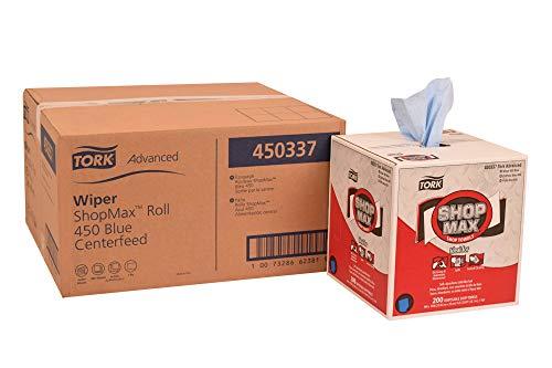 Tork 450337 Advanced ShopMax Wiper 450, Centerfeed, 1-Ply, 9.0