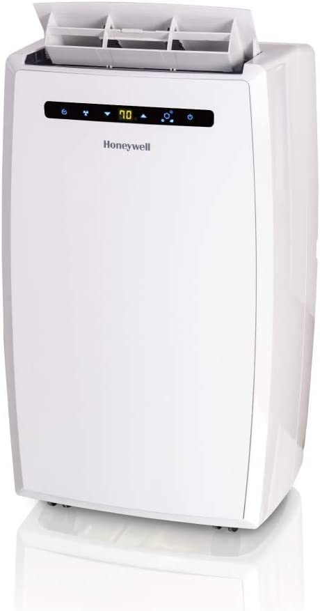 Honeywell MN Series Dehumidifier and Remote Control for a Room up to 550 Sq. Ft. (White) Portable Air Conditioner, 12000 BTU