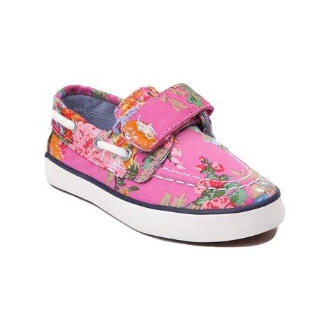 Ralph Lauren Polo Toddler's Sander EZ Boat Shoe Sneaker, Pin