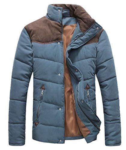 Coreana Alla Eku Sportivo Caldo Outwear Piumino Packable Invernale Uomo Colletto Cappotti Blu rBqqIZwxX