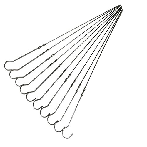 Amazon.com: 33CM Stainless Steel Barbecue Grill Needles Flat BBQ ...