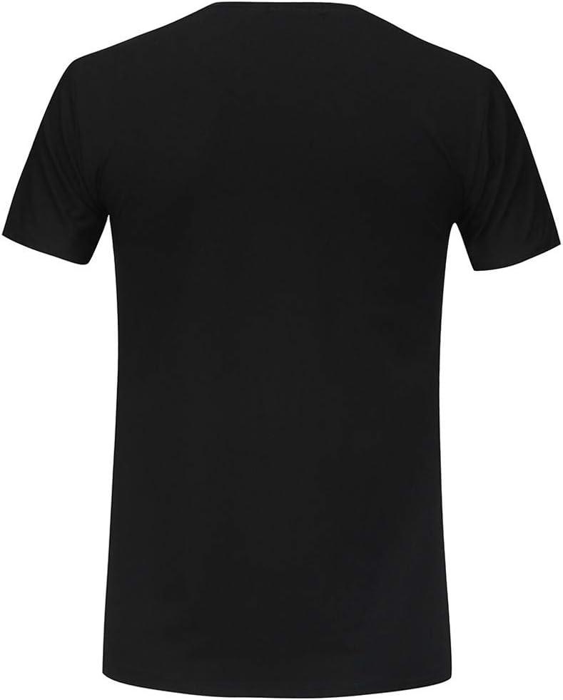 Mens Summer t Shirts Short Sleeve,Tronet Men Casual Summer Print Short Sleeve O-Neck T-Shirt Top Blouse