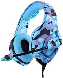 RENKUNDE 三色で利用できるワイヤレスゲーミングヘッドセットヘッドフォン小麦デュアルオーディオ音質でシンプルなBluetoothヘッドセット ゲーミングヘッドセット (Color : Camouflageblue)