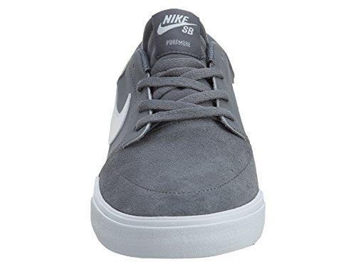Nike Mens Sb Portmore Ii Zonne Koel Wit Grijs Zwart Maat 7,5