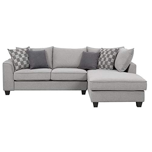 Pemberly Row Austin Pewter and Charcoal Right Facing Sectional ()