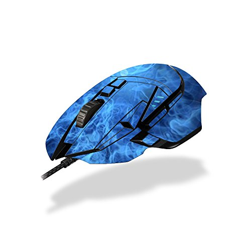 MightySkins Skin Logitech G502 Proteus Spectrum Gaming Mouse - Blue Mystic Flames | Protective, Durable Unique Decal wrap Cover | Easy to Apply, Remove Change Styles | Made in The USA