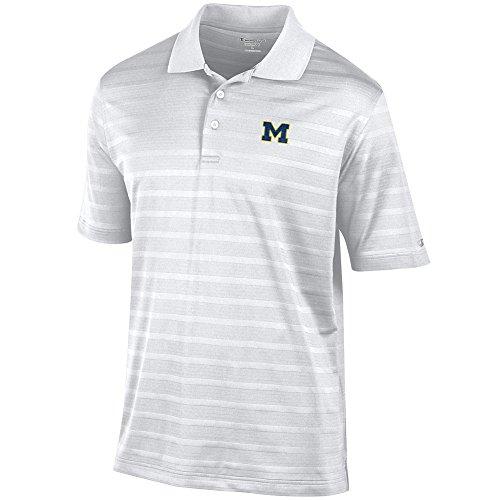 Elite Fan Shop Michigan Wolverines Golf Polo White - L