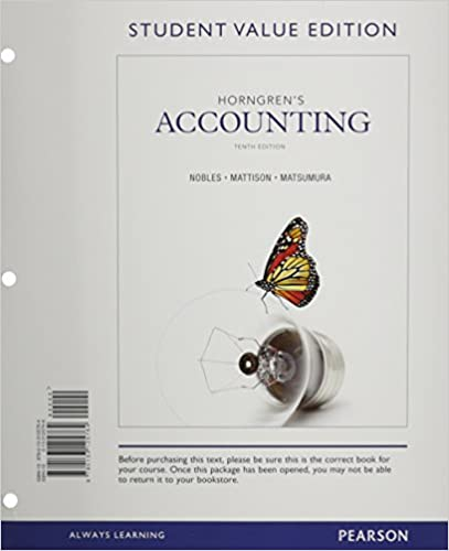 Amazon horngrens accounting student value edition and new horngrens accounting student value edition and new myaccountinglab with pearson etext access card package 10th edition 10th edition fandeluxe Gallery