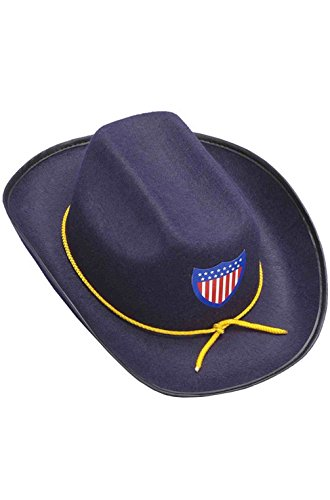 Mememall Fashion Military Civil War Union Officer Hat Costume Accessory (Kids Union Officer Hat)