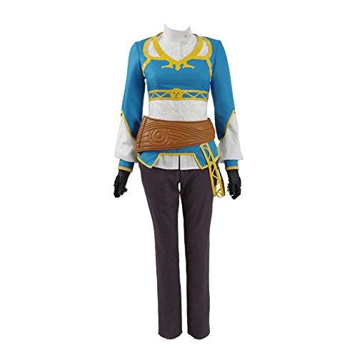 VOSTE Princess Zelda Costume Halloween Cosplay Full Set for Women (Medium, Full Set) -