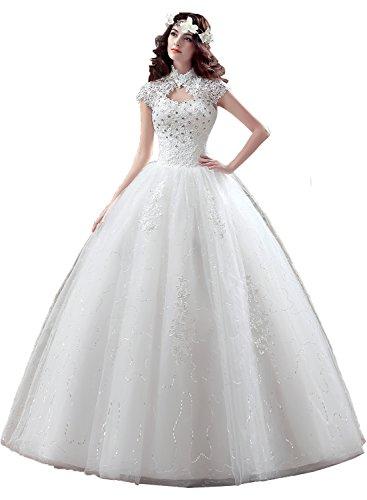 Hochzeitskleid I Spitze Damen Ivydressing Stil Abendkleider Brautkleider Hochwertig qB6xCfwI