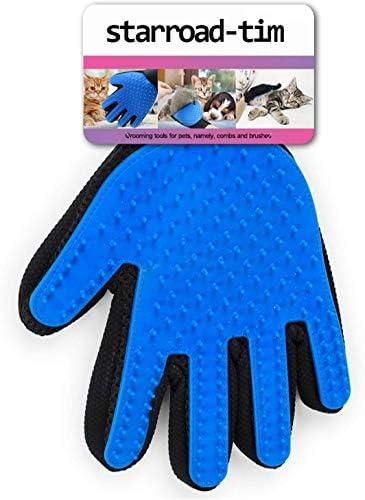 STARROAD-TIM Gant de toilettage pour Animal Domestique Brosse de démêlage Doux Efficace Gants de Massage pour Animal de
