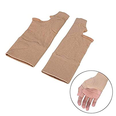 Pair Wrist Support Gel Silicon Brace Relief Compression Glove Thumb Hand Wrist Brace Fitness Wristband Finger Spraine Guard Estimated Price £8.19 -