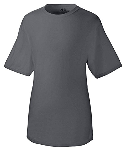 A4 Men's Fusion Cotton Short Sleeve Tee, Charcoal, X-Large (Dri Release T Shirt)