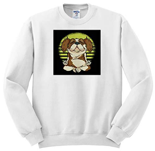 3dRose Sven Herkenrath Dog - Funny Yoga Cavalier King Charles Spaniel Dog Pet Sport - Youth Sweatshirt Large(14-16) ()
