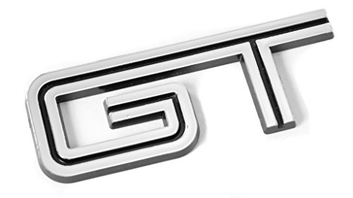2005-2010 Ford Mustang GT Black & Chrome Emblem; For Fenders & - Gt Emblem Fender