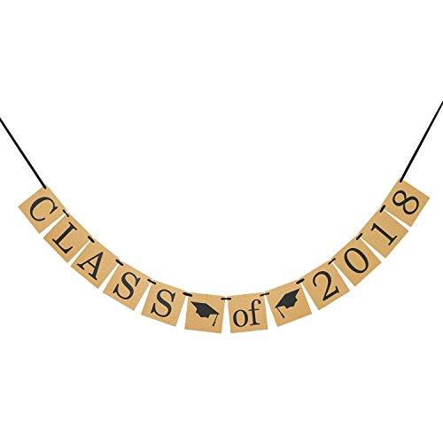 Class of 2018 Banner - Graduation Sign Photo Props - Graduate Party Decorations, High School Graduation, College Grad Decor -