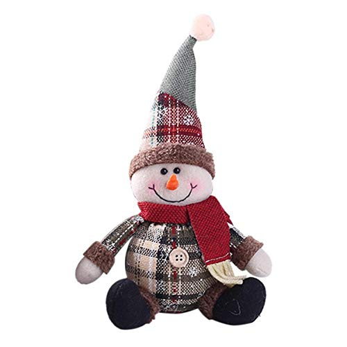 USDREAM Christmas Snowman Plush Ornament Doll Xmas Stuffed Toy for Home Bar Party Decoration (Stuffed Snowman Ornaments)