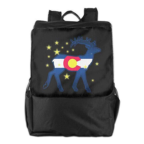 zaino viaggio bandiera bookbag Uhfgyhuihjf college school cervo uomini laptop Colorado da donne YffH8Pq