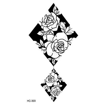 ruofengpuzi Adesivo tatuaggio4 Unid Popular Ballet Negro Flor ...