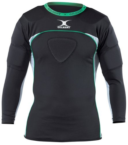 Gilbert Atomic Thermo Rugby Long Sleeve Shoulder Protector GIL272LS-2X-P