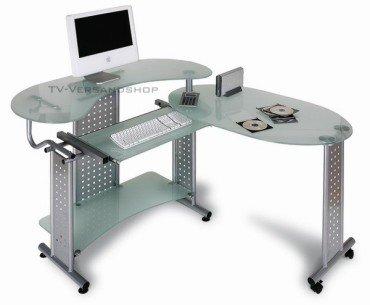 Computertisch glas  Schreibtisch Tisch Kombination Computertisch GLAS VETRO: Amazon.de ...