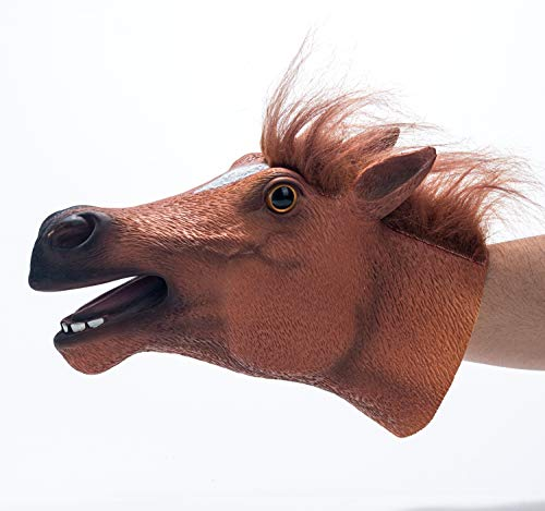 Yolococa Hand Puppet Toys,Soft Rubber Realistic Horse Head (Horse Hand Puppet)