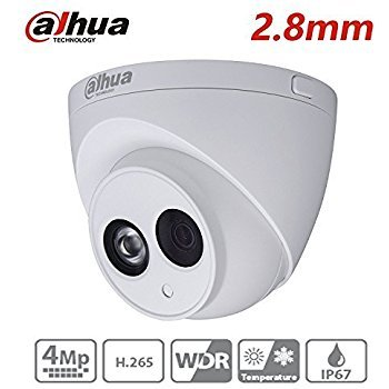 Dahua CCTV IP Camera 2.8MM 4MP Dome Camera IPC-HDW4433C-A Upgrade from IPC-HDW4431C-A with IR Night Version 50M IP67 Onvif H.265 Security Camera International Version by Anpviz
