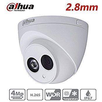 Dahua CCTV IP Camera 2.8MM 4MP Dome Camera IPC-HDW4433C-A Upgrade from IPC-HDW4431C-A with IR Night Version 50M IP67 Onvif H.265 Security Camera International Version