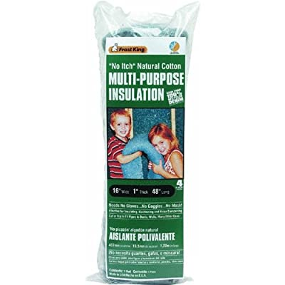 """Frost King CF1 16 x 1 x 48"""" No Itch Natural Cotton Multi-Purpose Insulation"""