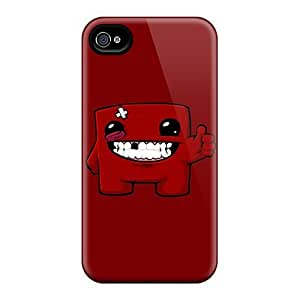 Awesome Case Cover/iphone 4/4s Defender Case Cover(super Meat Boy)