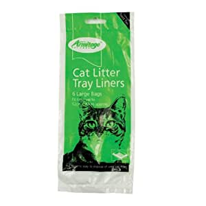 Good Girl Cat Litter Liners Green Large 6 Pack