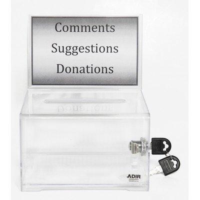 - AdirOffice Acrylic Donation & Ballot Box With Lock (6.25