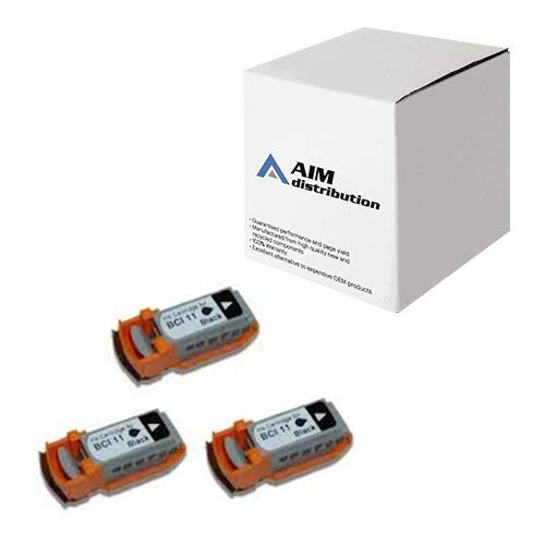 AIM Compatible Replacement for Canon BCI-11BK Black Inkjet (3/PK-30 Page Yield) (F47-0761-400) - Generic
