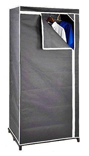 Stoffschrank 160 cm inkl. Kleiderstange - grau - Kleiderschrank ...