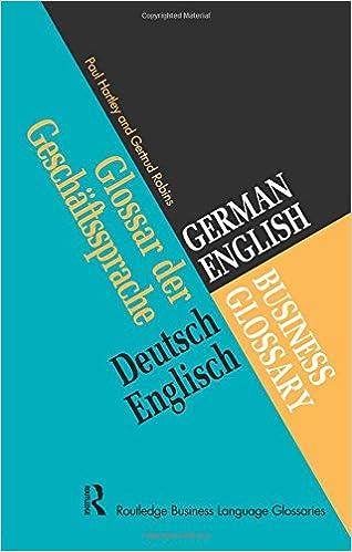 German/English Business Glossary (Business Glossaries)
