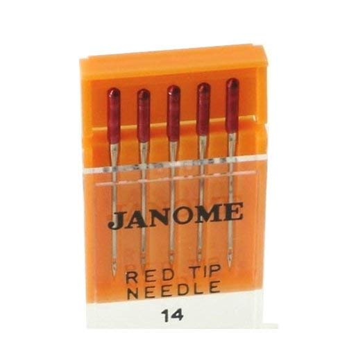 90/14 Janome Red Tip Needles 5 Pack ()