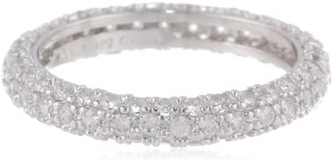 Sterling Silver All-Around Pave Cubic Zirconia Ring (1.4 cttw)