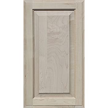 Unfinished Maple Cabinet Door, Square With Raised Panel By Kendor, 23H X 13W