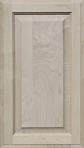 (Unfinished Maple Cabinet Door, Square with Raised Panel by Kendor, 23H x 13W)