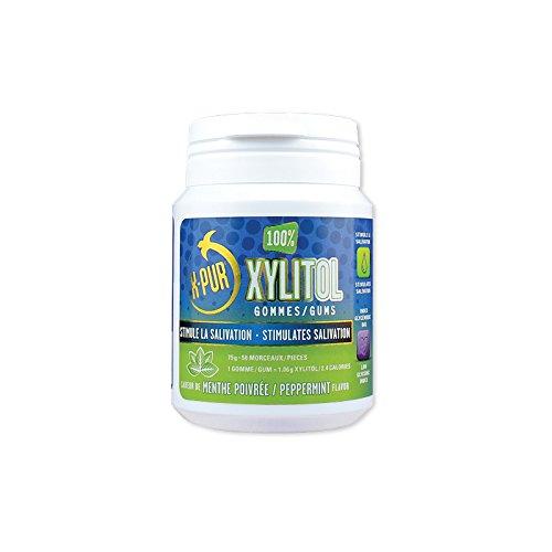 X-PUR 100% Xylitol Gum Mint Flavor 50 Pieces Oral Science Inc.