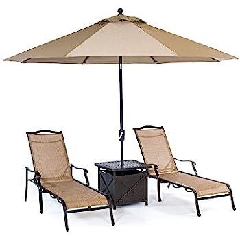 Amazon.com : Hanover MONCHS2PC Monaco Chaise Lounge Chairs ...