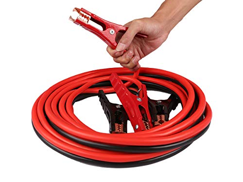 Car Cables 4 Gauge x 20 Ft 500A Heavy Duty Booster Jumper Battery Cables Booster Cable Booster Jumper Cables in Carry Bag Jumper Battery Cables (4 Gauge)