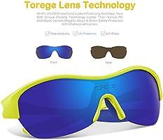 df4245bc5016 TOREGE Tr90 Flexible Kids Sports Sunglasses Polarized Glasses for Junior Boys  Girls Age 3-15. Loading Images.