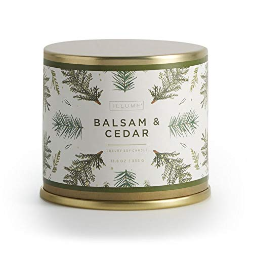 Illume Vanity Tin Candle - Balsam & Cedar - 11.8 oz 45250072000