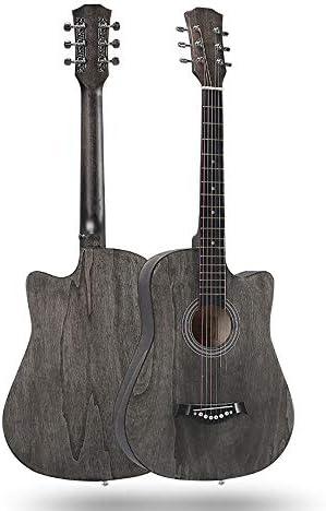 ミニアコースティックギター 38インチのフォークギターは子供大人のための木製ギターナチュラルシナギター学生の実践をポリッシュ 初心者 入門 (Color : C, Size : 38 inch)