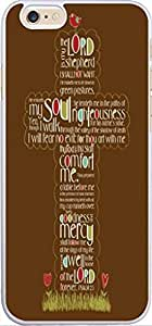 Case For Iphone 6, Iphone 6 Case Christian Quotes Bible Verses 4.7 Inches Psalm 2.3 Letter Cross