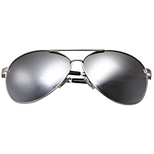 grinderPUNCH - Big XL Wide Frame Extra Large Aviator Sunglasses Oversized 148mm Silver Mirrored